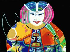 """Saatchi Art Artist Cora de Lang; New Media, """"LADY IN RINO PINK"""" #art"""