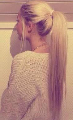 Straight ponytail #gorgeoushair
