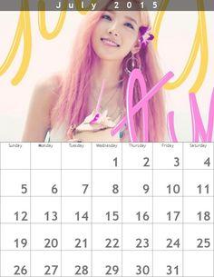 少女時代テヨンPARTYカレンダー1507