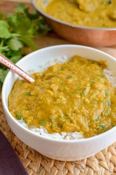 Simple but delicious Low Syn Red Lentil Dhal - pure comfort in a bowl and a perfect recipe for freezing leftovers - gluten free, dairy free, vegan, Slimming World and Weight Watchers friendly Lentil Recipes, Curry Recipes, Vegetarian Recipes, Cooking Recipes, Healthy Recipes, Salad Recipes, Keto Recipes, Slimming Eats, Slimming World Recipes