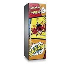"""Mod. """"Boom"""" Vinilo decorativo para frigorífico / nevera. Si te apasiona el cómic, este es tu Vinilo adhesivo."""