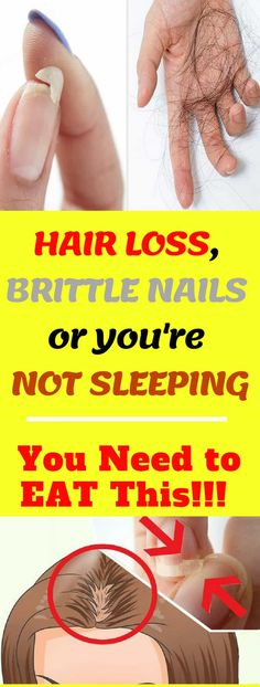 EAT THIS IF YOU HAVE HAIR LOSS, BRITTLE NAILS OR YOU'RE NOT SLEEPING!!! #hairloss #brittle #nails #eat #sleeping #health #food