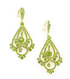 Get ready for St. Patrick's day!  Elphaba Green Crystal Earrings – La De Da Too