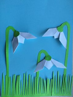 image Origami, Arts And Crafts, Diy Crafts, Winter Crafts For Kids, Paper Cutting, School, Flowers, Fun, Image