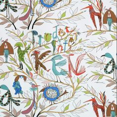 The charming Fåglarna berättar fabric from Almedahls has a fun pattern that was designed by Olle Eksell in the Olle Eksell was a Swedish illustrator and he loved to draw birds and pens. Scandinavian Design Centre, Scandinavian Fabric, Cool Patterns, Fabric Patterns, Print Patterns, Boys Curtains, Olle Eksell, Stoff Design, Nursery Fabric