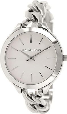 Women's Wrist Watches - Michael Kors Slim Runway White Dial Stainless Steel Ladies Watch MK3279 * You can get additional details at the image link.