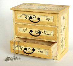 Decorative jewelry wooden box Treasury Box by MyHouseOfDreams
