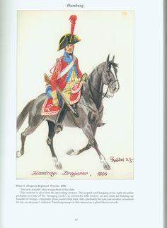 The Confederation of the Rhine - Hamburg: Plate 2. Dragoon Regiment, Private, 1806
