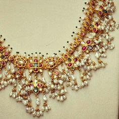 Beautiful Jaipur style jewellery with Barra pearls.