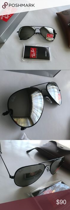 344413faf4 RAY BAN AVIATOR MIRROR LENS Everything NEW! Model aviators reflective lens  Size Includes carrying case