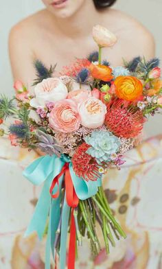 Top 30 In 2017: Gorgeous Summer Wedding Bouquets ❤ See more: http://www.weddingforward.com/gorgeous-summer-wedding-bouquets/ #weddings