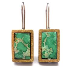 VARISCITE EARRINGS IN SILVER AND GOLD