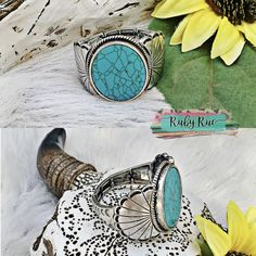 Retro Cowgirl Stretchy Cuff – Ruby Rue Jewelry & Accessories Love Is All, Turquoise Bracelet, Jewelry Accessories, Retro, Jewelry Findings, Retro Illustration