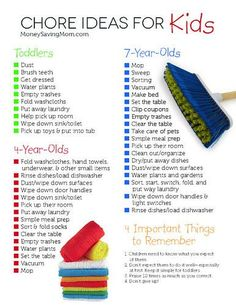 Montessori Monday – Age-Appropriate Chores for Children {Free Printables} - Age appropriate chores for kids - Chores For Kids By Age, Age Appropriate Chores For Kids, Toddler Chores, Children Chores, Boy Toddler, 7 Year Old Chores, Preschool Chores, Kid Chores, Weekly Chores