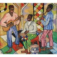 Jazz Concert in Old Synagogue, Lower East Side, New York, 1946 by Beauford Delaney on Curiator, the world's biggest collaborative art collection. Jazz Painting, Blue Painting, African American Artist, American Artists, Harlem Renaissance Artists, Jazz Concert, Jazz Art, Digital Museum, Lower East Side