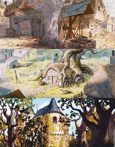 Animation Scenery — mickeyandcompany: Breathtaking Sceneries from. Disney Background, Cartoon Background, Animation Background, Environment Concept Art, Environment Design, Fantasy Landscape, Fantasy Art, I Love Cinema, Visual Development