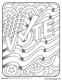 America Vote Coloring Pages Printable And Book To Print For Free Find More Online Kids Adults Of