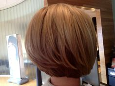 Blonding/Blondes with a stacked bob cut 2012. short hair, highlighted hair.  Designed & Colored by: #TheresaQuezadaHair