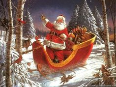 Merry Christmas Santa Claus Art | SANTA CLAUS – HIS CREATION