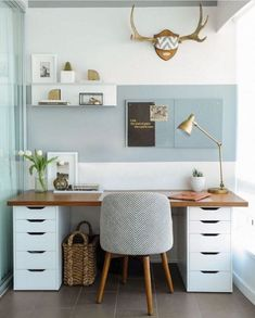 Get the home office design you've ever wanted with these home office design ideas! Feel inspired by the unique ways you can transform your home office! Home office Home Office Space, Home Office Design, Home Office Decor, Office Ideas, Office Designs, Office Inspo, Workspace Design, Desk Space, Office Setup