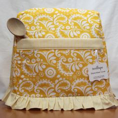 Stand Mixer Cover Lemon Drop TiltHead size by twilltape on Etsy, $38.00  @Jenna Hatfield ~ do you have a stand mixer??