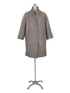 Pomandere - Cocoon Coat Dark Brown