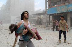 Aleppo, Syria. Photo by Baraa Al-Halabi/AFP.