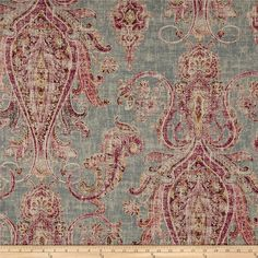From P Kaufmann, this versatile fabric features screen printing on cotton duck with a touch of rayon for extra smoothness and versatility. the rayon gives it a nice touch of drape and malleability. Perfect for gorgeous draperies and valences, duvet covers, toss pillows, and upholstery projects like revitalizing an old piece of furniture.