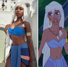 Princess Kida (Atlantis: The Lost Empire) Cosplay by CutiePieSensei Disney Cosplay, Anime Cosplay, Epic Cosplay, Cute Cosplay, Amazing Cosplay, Cosplay Outfits, Cosplay Girls, Black Girl Halloween Costume, Badass Halloween Costumes