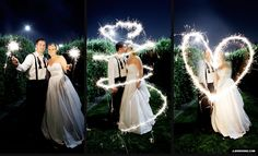 Wedding photos -- Sparklers and long exposure