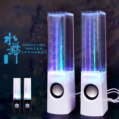 Colorful LED Dancing Water Fountain Light Show Sound Speaker for Laptops Smartphone iPhone iPad Usb, Water Speakers, Laptop Speakers, Speaker Price, Fountain Lights, Led Dance, Sound Speaker, Color Changing Lights, Ipad