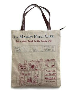 85f292b19f0d petit cafe Tote this bag is perfect for an Autumn day at the park  lt