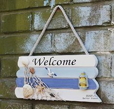 Buy the fantastic DOODEEN Welcome Sign,Home Decorative Welcome Wall Plaque,Hanging Ornaments Wood Sign,Boat Beach Ocean Seaside Theme Handcrafted Nautical Decor for Door, Entrance, Porch by DOODEEN online today. This highly desirable product is currently in stock - get securely on Door Wreaths & Decor today.