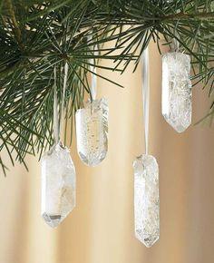 Clear Quartz Crystal as Decorations.