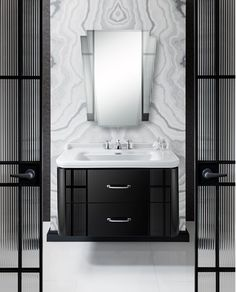 Bring some opulent glamour to your bathroom with our Waldorf collection . Small Bathroom Mirrors, Bathroom Goals, Glass Bathroom, Bathroom Wallpaper, Bathroom Inspo, Modern Bathroom, Master Bathroom, Small Bathrooms, Bathroom Ideas