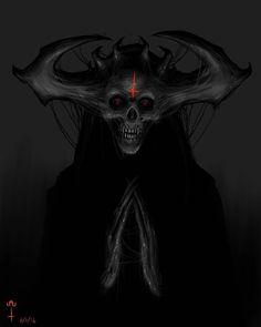 Satanist by Ωmega Black (@ omega_black_art) #satanist #satanic #churchofsatan #hailsatan #horror #darkart #6/6/16 #666 #digitalpainting #digitalart #drawing #art