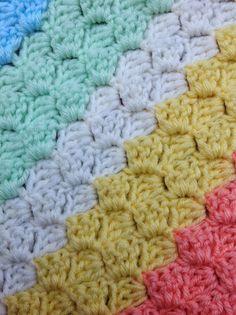 Crochet, Free Crochet Pattern, Corner to Corner, Afghan, Box stitch, Baby blanket, free blanket,