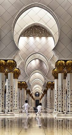Sheikh Zayed Grand Mosque in Abu Dhabi architectural design, Modern Architecture, luxury, Islamic Architecture, Beautiful Architecture, Art And Architecture, Architecture Details, Dubai Architecture, Abu Dhabi, Beautiful Mosques, Beautiful Places, Amazing Places