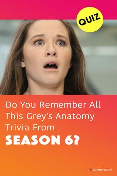 """""""I've barely lived. I'm not finished yet. No one's loved me yet. P... Please, please, I'm so... someone's child. I'm a person. I'm a person."""" —April Kepner quote This trivia quiz will test your knowledge on how well you remember all of the Grey's Anatomy trivia from season six. #greys #shondaland #greysLove #greysrandomQuiz #greysFan #shonda #aprilkepner #GreysAnatomy #greysquiz #greysnostalgia #greysAnatomyTrivia Greys Anatomy Season 6, Greys Anatomy Facts, April Kepner, Callie Torres, Arizona Robbins, Cristina Yang, Trivia Quiz, Meredith Grey, No One Loves Me"""