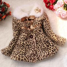 Barato 1pc outono inverno jaquetas para meninas moda infantil de pele de leopardo faux casacos accc229, Compro Qualidade Jaquetas e Casacos diretamente de fornecedores da China:                                                            &nbs