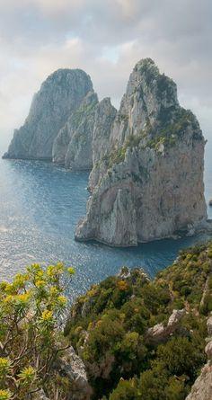 Faraglioni in Capri Italy