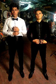 Matthew Deddario and Harry Shum Jr.