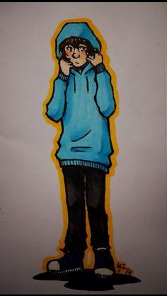 Nico in wills sweatshirt