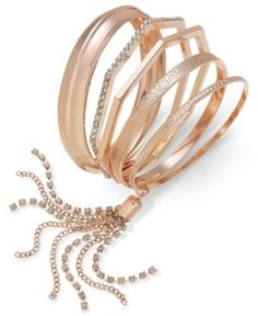 Thalia Sodi Geometric Bangle Bracelet Set, Only at Macy's -