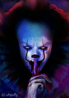 This pin is mainly about the beautiful Pennywise we all love to look at! From the makeup to the hair its pure beauty! Joker Hd Wallpaper, Joker Wallpapers, Halloween Wallpaper, Iphone Wallpaper, Clown Pennywise, Pennywise The Dancing Clown, Scary Movies, Horror Movies, Desenhos Halloween