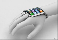 Concept #iPhone - cross between a bracelet and a glove designed in Italy.