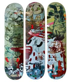 Alexone Triptique  Skate decks
