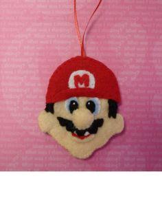 Felt Mario ornament