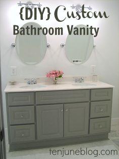 Ten June: {DIY} Custom Bathroom Vanity