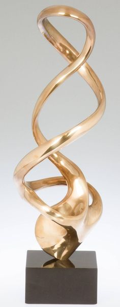 Undulating Bronze Sculpture by Kieff Antonio Grediaga Offered by Douglas Rosin Decorative Arts & Antiques